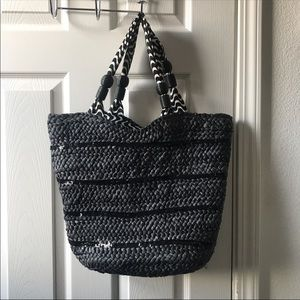 Style & Co. sequin embellished beach bag